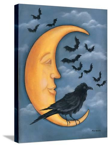 Moon Crow-Kim Lewis-Stretched Canvas Print