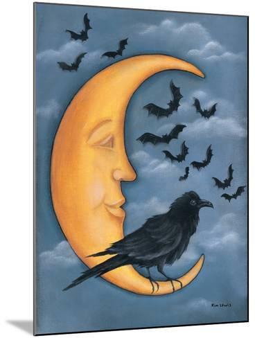 Moon Crow-Kim Lewis-Mounted Art Print