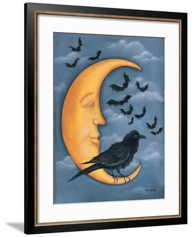 Moon Crow-Kim Lewis-Framed Art Print