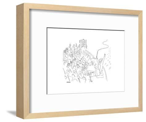 Cartoon-Saul Steinberg-Framed Art Print