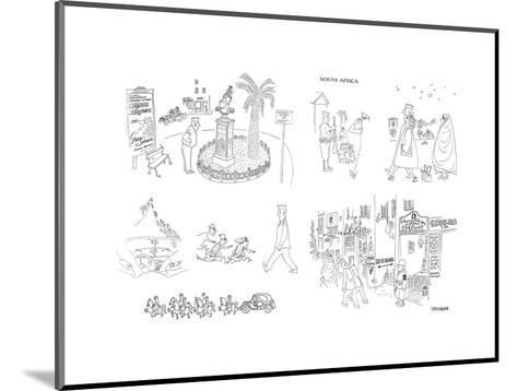 Cartoon-Saul Steinberg-Mounted Premium Giclee Print
