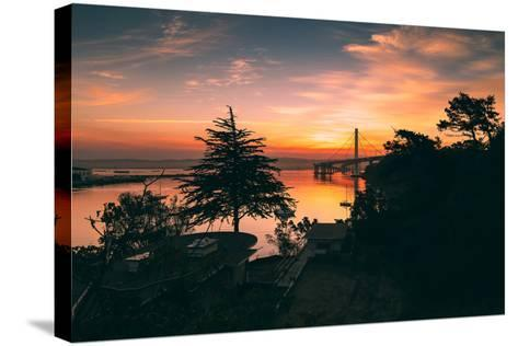 Bay Bridge Sunrise from Treasure Island, San Francisco, California-Vincent James-Stretched Canvas Print