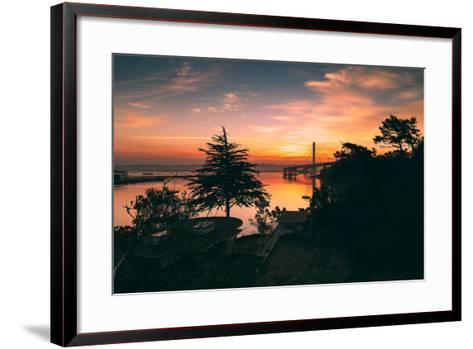 Bay Bridge Sunrise from Treasure Island, San Francisco, California-Vincent James-Framed Art Print