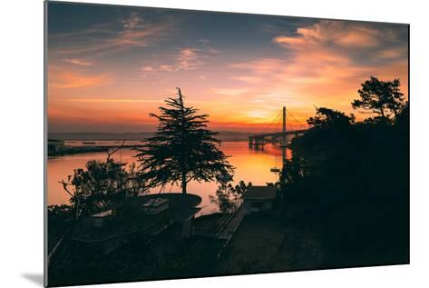 Bay Bridge Sunrise from Treasure Island, San Francisco, California-Vincent James-Mounted Photographic Print