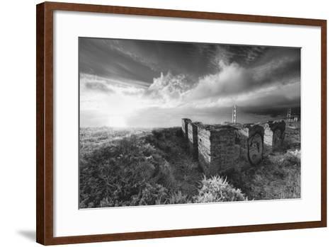 Morning Mist at Golden Gate Bridge, Black and White, San Francisco-Vincent James-Framed Art Print