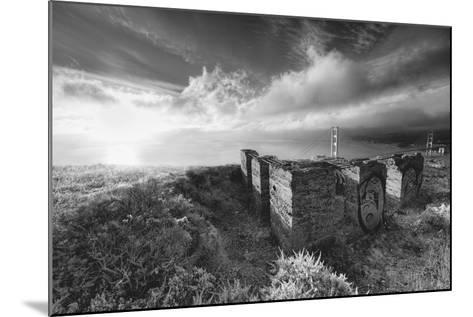 Morning Mist at Golden Gate Bridge, Black and White, San Francisco-Vincent James-Mounted Photographic Print