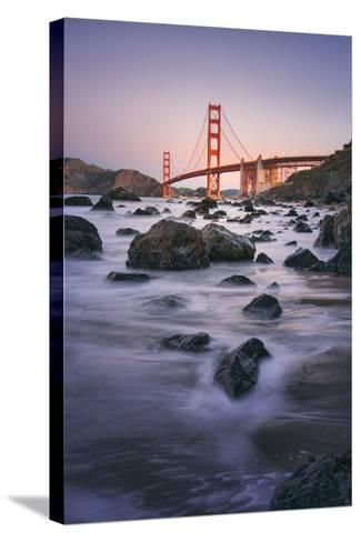 Simple Peaceful Morning Shore, Golden Gate Bridge, San Francisco-Vincent James-Stretched Canvas Print