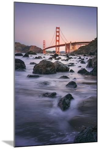 Simple Peaceful Morning Shore, Golden Gate Bridge, San Francisco-Vincent James-Mounted Photographic Print