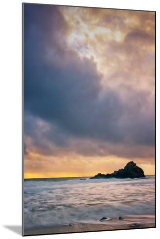 Stormy Sunset Skies at Big Sur, Pfieffer Beach, California Coast-Vincent James-Mounted Photographic Print