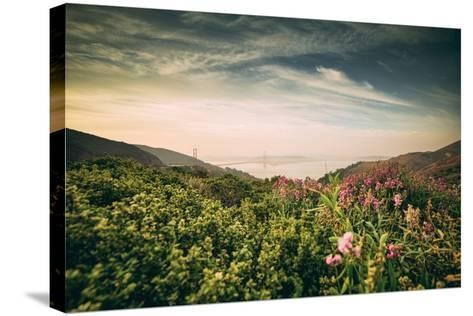Obscurity - Smokey Sunrise at Golden Gate Bridge, San Francisco-Vincent James-Stretched Canvas Print