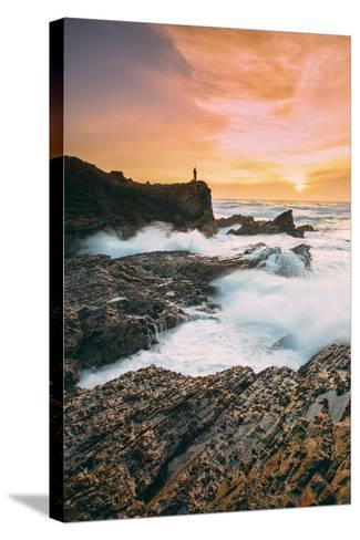 Setting Sunscapet at Monta?a de Oro, Morro Bay California Coast-Vincent James-Stretched Canvas Print
