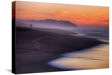 Sunset Walk, Point Reyes National Seashore, Northern California-Vincent James-Stretched Canvas Print