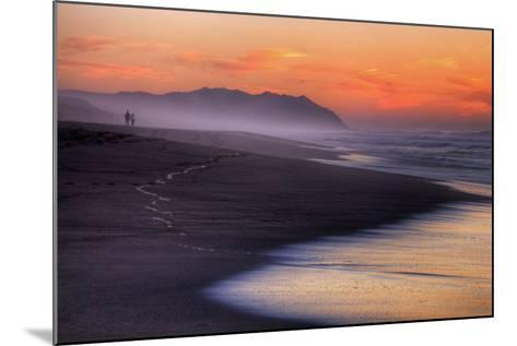 Sunset Walk, Point Reyes National Seashore, Northern California-Vincent James-Mounted Photographic Print