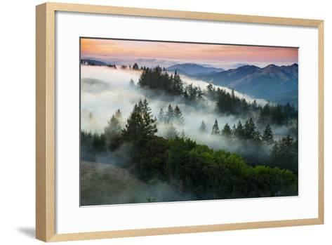 Night Comes Down Fog Rolls In, Northern California Coast-Vincent James-Framed Art Print