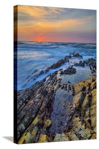 Sunset Seascape at Montaña de Oro, Morro Bay California Coast-Vincent James-Stretched Canvas Print