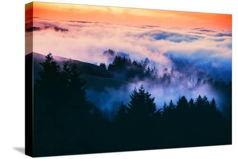 Dream Landscape of Fog at Sunset, San Francisco, California-Vincent James-Stretched Canvas Print