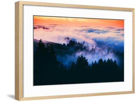 Dream Landscape of Fog at Sunset, San Francisco, California-Vincent James-Framed Art Print