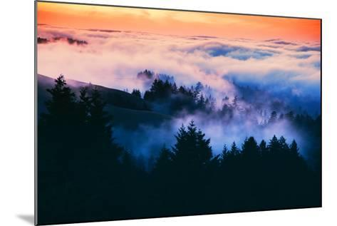 Dream Landscape of Fog at Sunset, San Francisco, California-Vincent James-Mounted Photographic Print