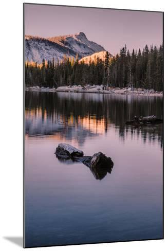 Peaceful Morning Reflection Yosemite Tioga Pass Tenaya Lake-Vincent James-Mounted Photographic Print