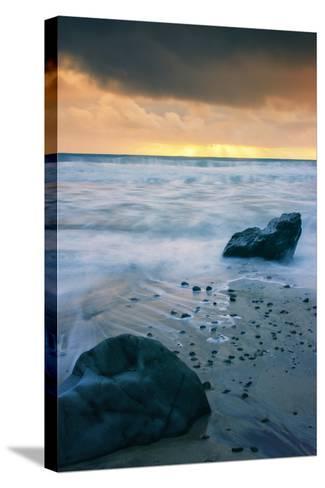 Stormy Seascape at Pfeiffer Beach Big Sur California Coast-Vincent James-Stretched Canvas Print