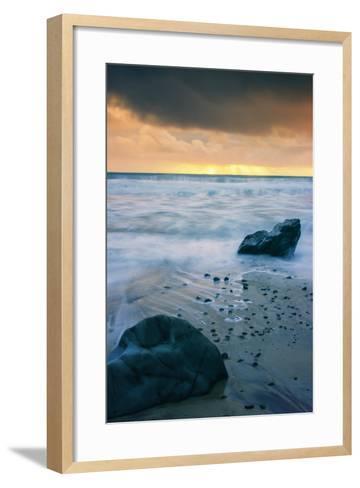 Stormy Seascape at Pfeiffer Beach Big Sur California Coast-Vincent James-Framed Art Print