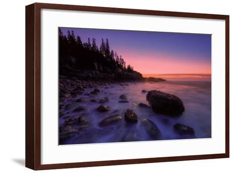 Atlantic Coast Sunrise, Maine, Acadia National Park-Vincent James-Framed Art Print