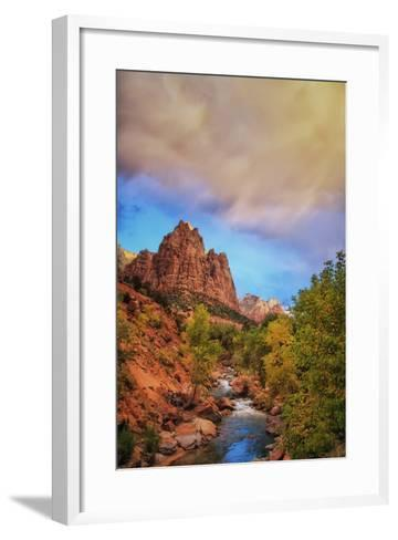 Passing Storm, Zion Canyon, Southern Utah-Vincent James-Framed Art Print