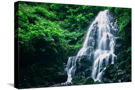 Ethereal Fairy Falls, Columbia River Gorge, Oregon-Vincent James-Stretched Canvas Print