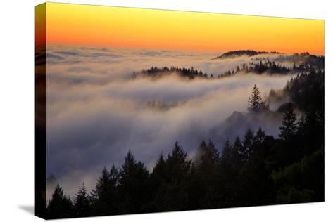 Mount Tamalpais After Sunset, Northern California-Vincent James-Stretched Canvas Print