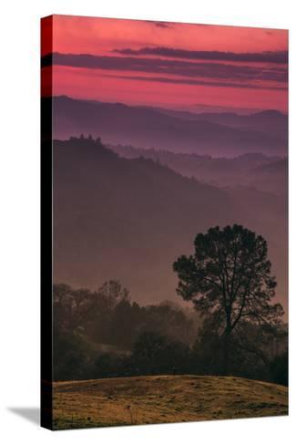 Sunset Layers, Mount Diablo, California-Vincent James-Stretched Canvas Print