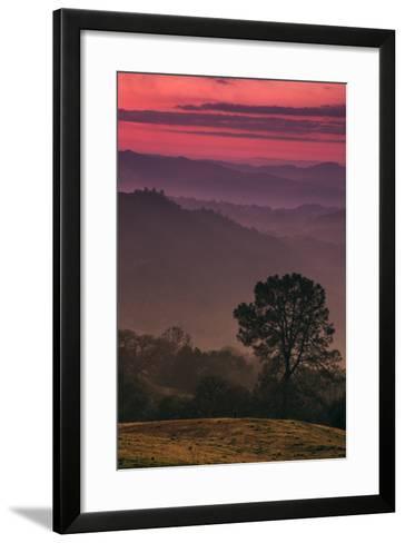 Sunset Layers, Mount Diablo, California-Vincent James-Framed Art Print