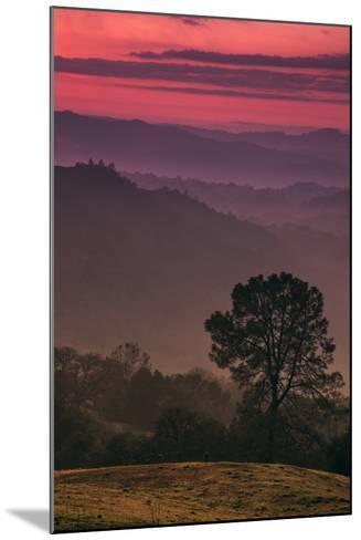 Sunset Layers, Mount Diablo, California-Vincent James-Mounted Photographic Print