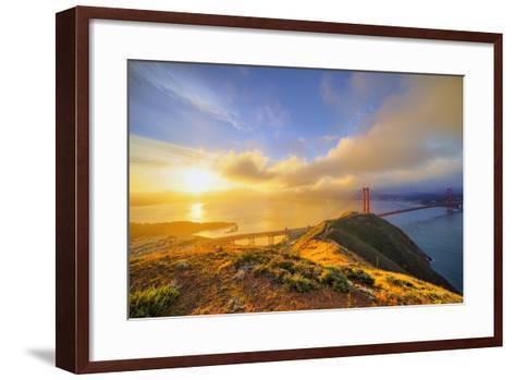 First Light at Golden Gate Bridge, San Francisco-Vincent James-Framed Art Print