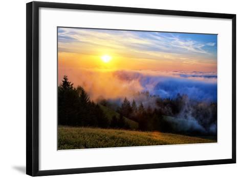 Fog and Light Mix Hills of Mount Tam California-Vincent James-Framed Art Print