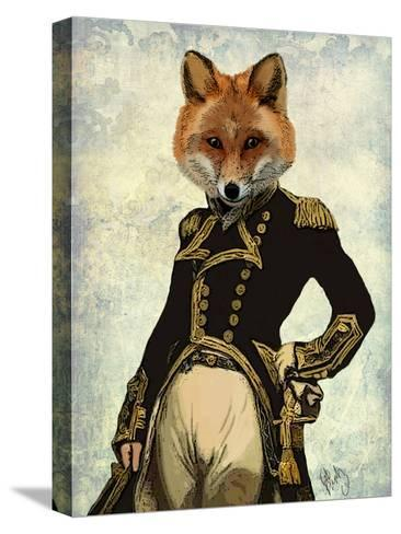 Admiral Fox Full-Fab Funky-Stretched Canvas Print