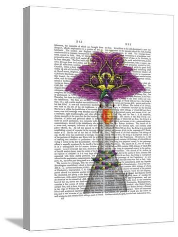 Goose Mardi Gras Headdress-Fab Funky-Stretched Canvas Print