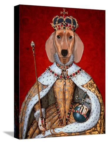 Dachshund Queen-Fab Funky-Stretched Canvas Print