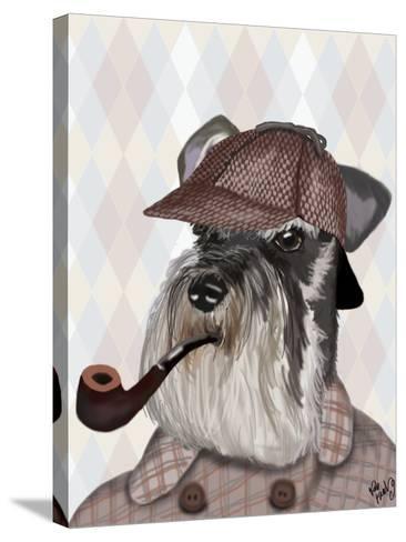 Schnauzer Sherlock-Fab Funky-Stretched Canvas Print