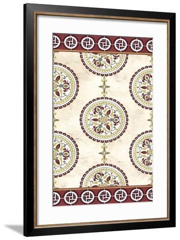 Embellished Mandala Panel II-June Erica Vess-Framed Art Print