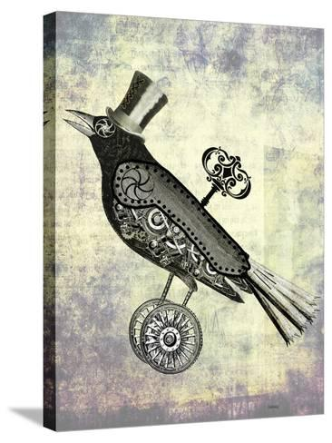 Steampunk Crow-Fab Funky-Stretched Canvas Print