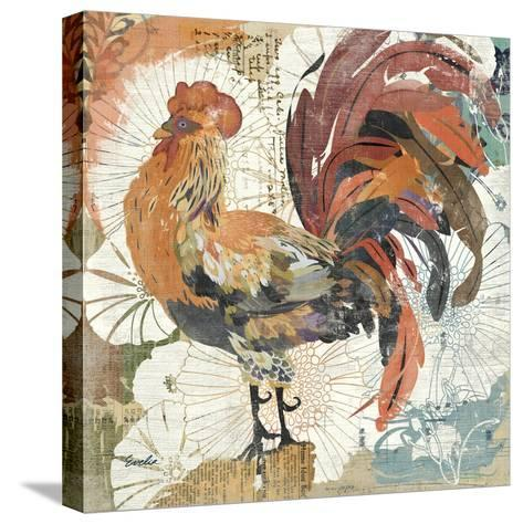 Rooster Flair II-Evelia Designs-Stretched Canvas Print