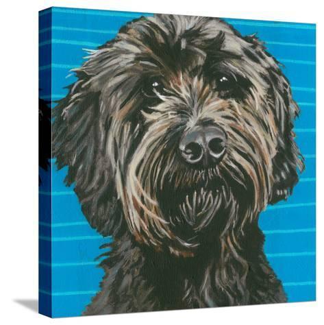 Dlynn's Dogs - Mini-Dlynn Roll-Stretched Canvas Print