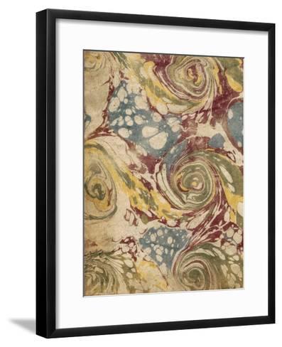Marbleized I-Vision Studio-Framed Art Print