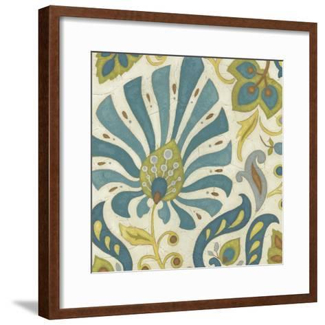 Peacock Paisley I-June Erica Vess-Framed Art Print