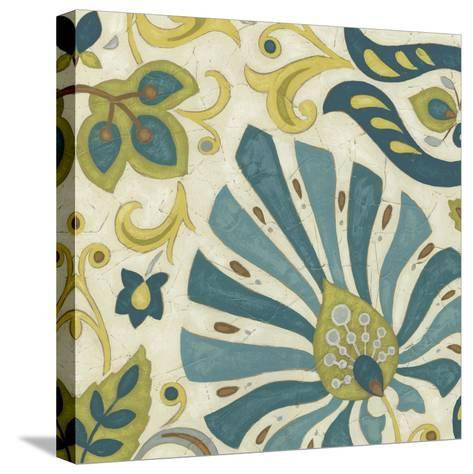 Peacock Paisley II-June Erica Vess-Stretched Canvas Print