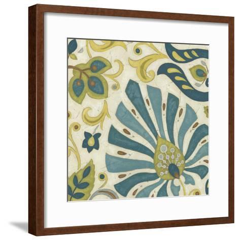 Peacock Paisley II-June Erica Vess-Framed Art Print
