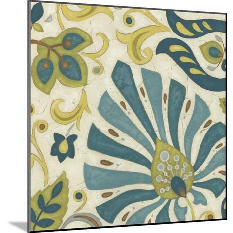 Peacock Paisley II-June Erica Vess-Mounted Art Print