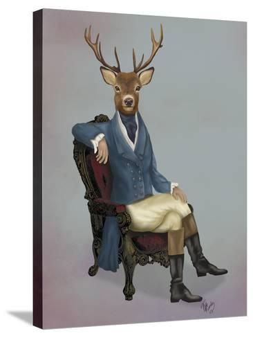 Distinguished Deer Full-Fab Funky-Stretched Canvas Print