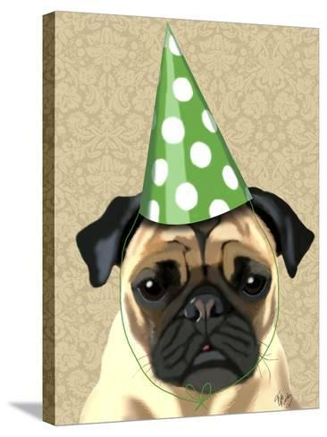 Party Pug-Fab Funky-Stretched Canvas Print