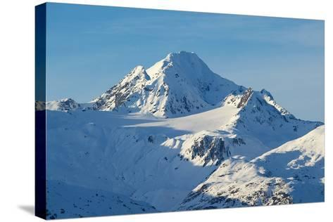 A Scenic View of Jagged, Snow-Covered Peaks in the Chilkat Range-Bob Smith-Stretched Canvas Print
